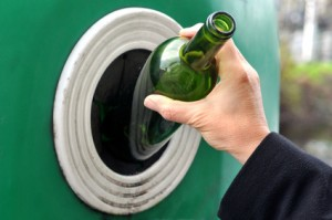 Bouteille recyclée