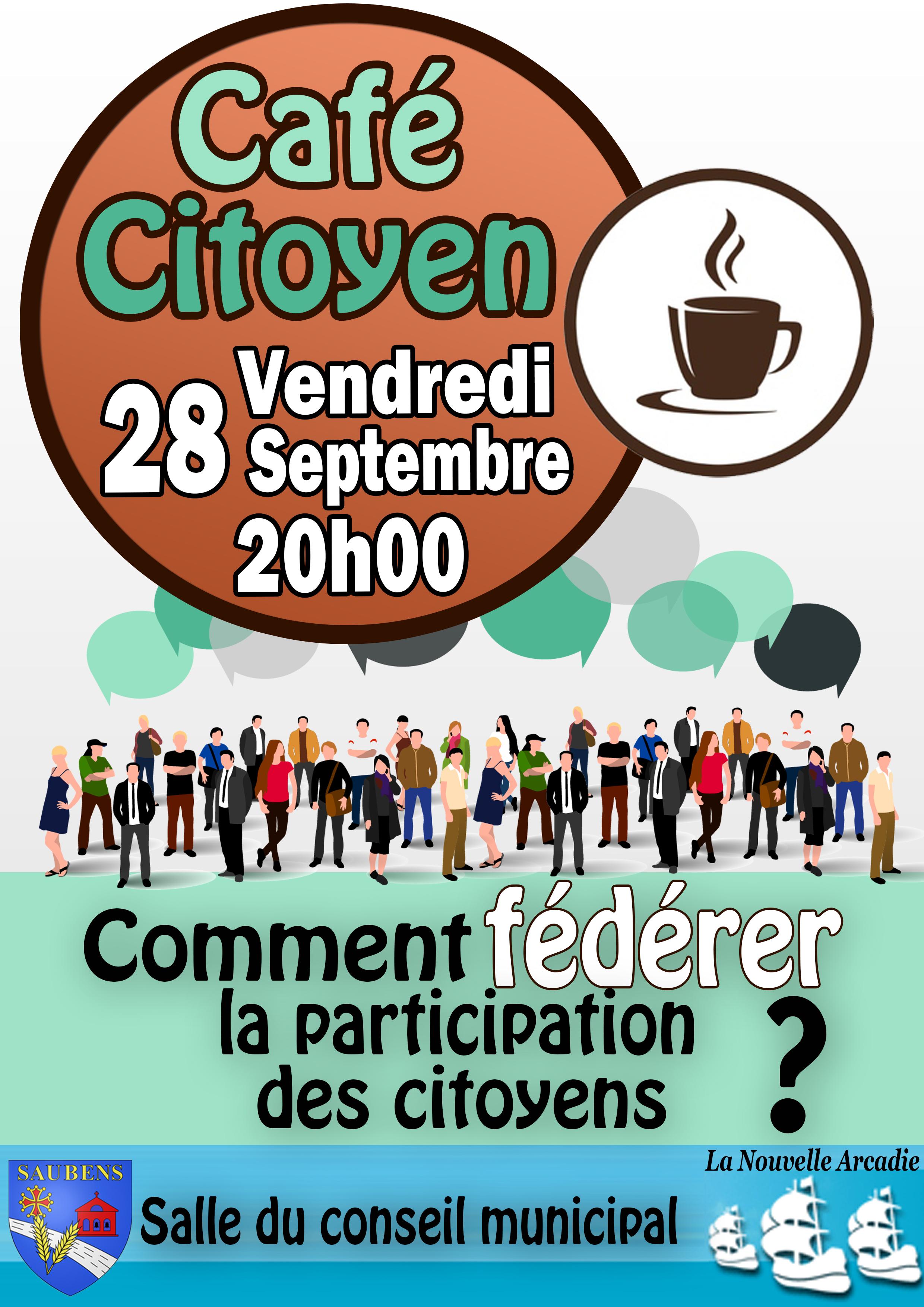 """Café citoyen : """"Comment fédérer la participation des citoyens? """""""