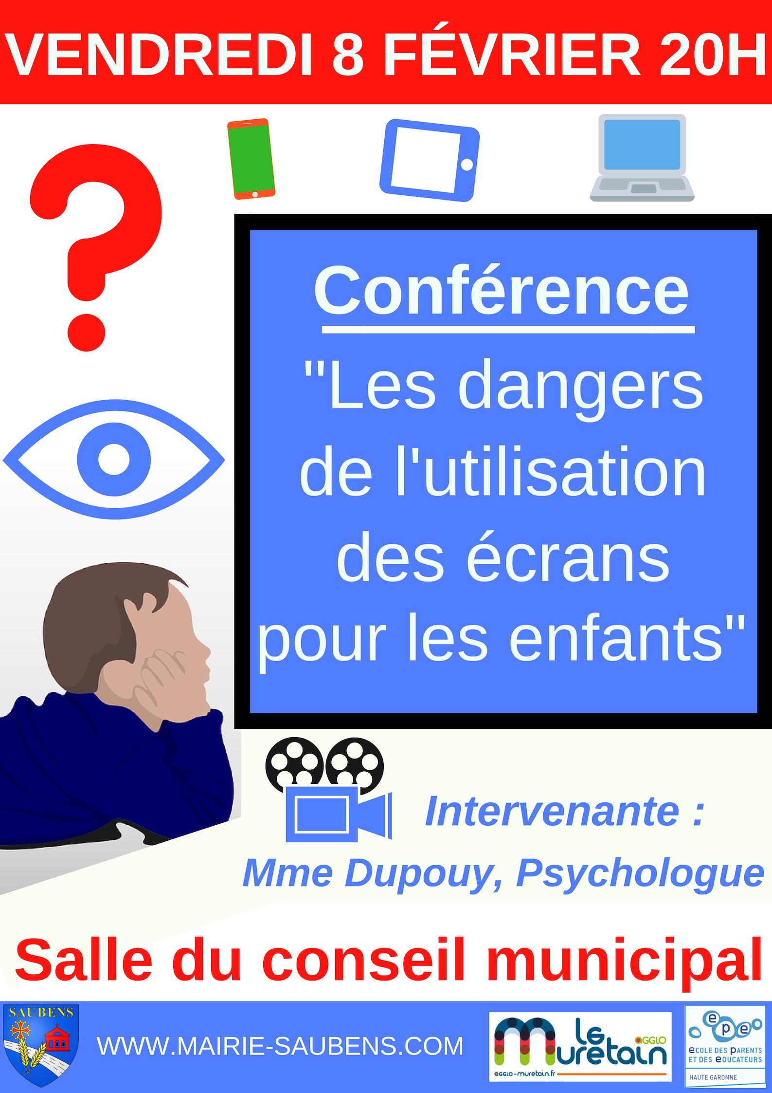"""CONFÉRENCE """"Les dangers de l'utilisation des écrans pour les enfants"""""""