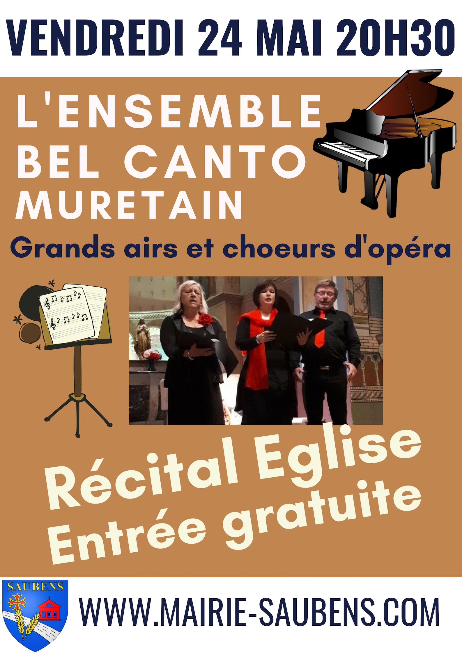 Récital Ensemble Bel Canto Muretain