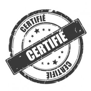 label - tampon certifi