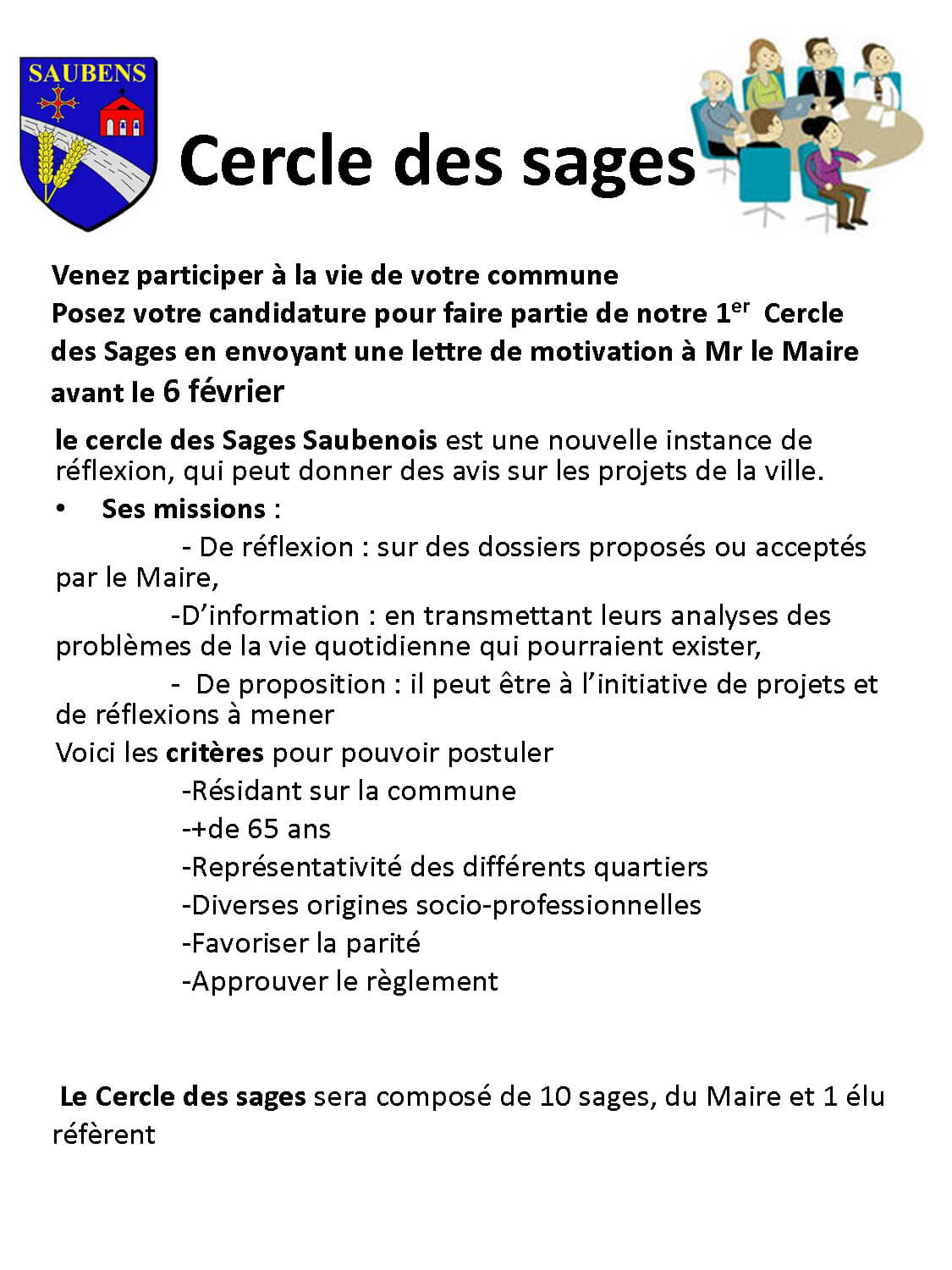 Cercle des sages flyer