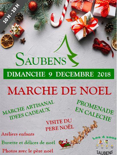 MARCHE DE NOEL : dimanche 9 décembre