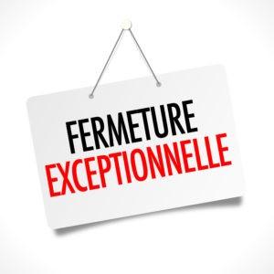 Fermeture exceptionnelle Mairie