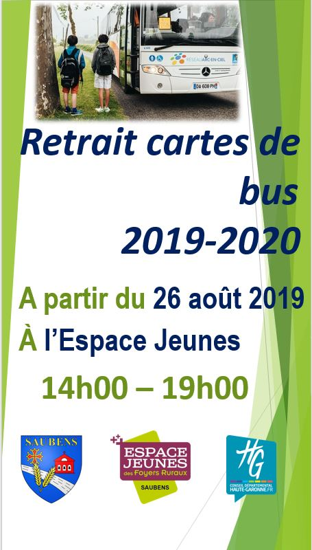 Retrait des cartes de bus à l