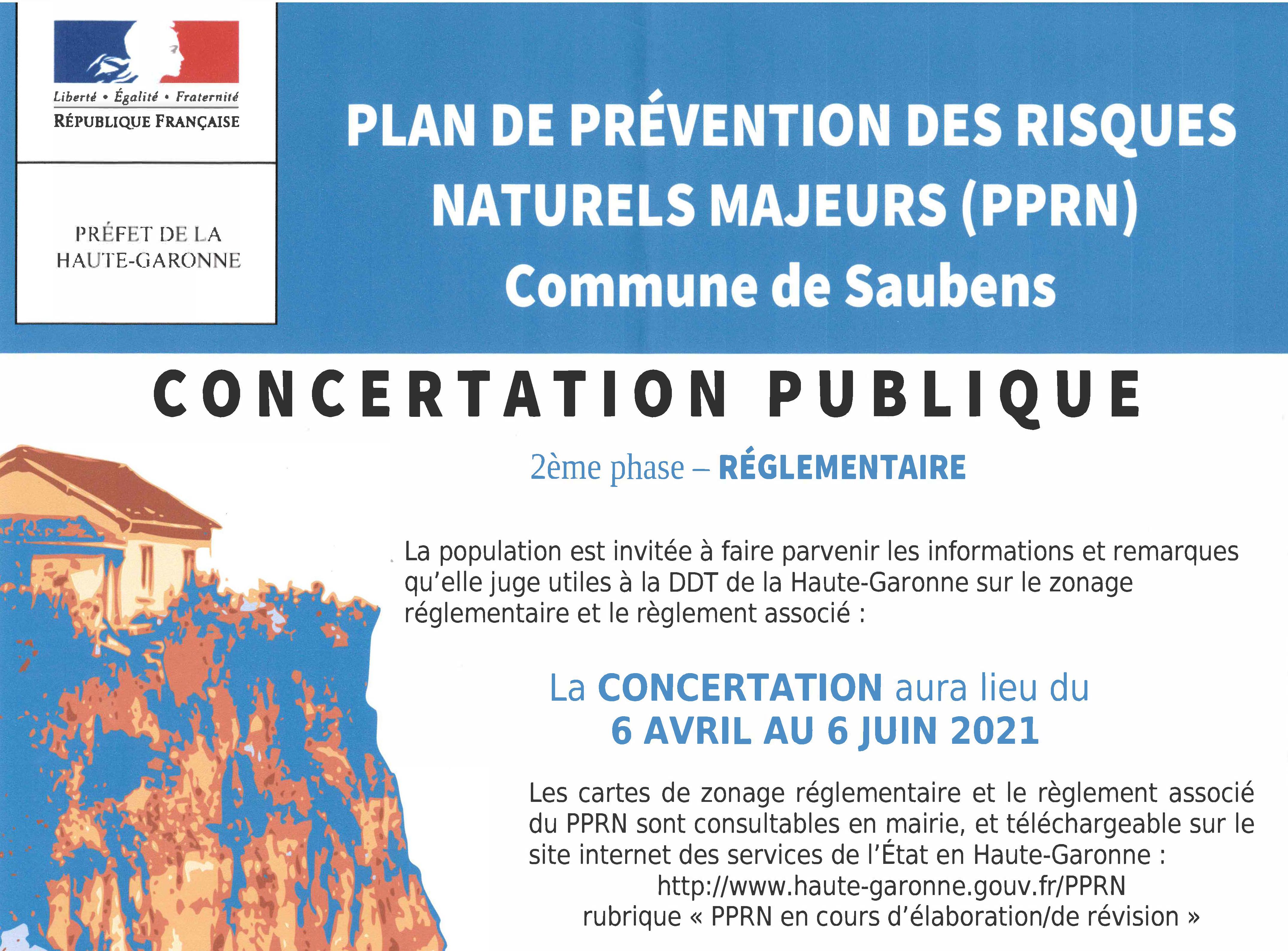 Plan de Prévention des Risques Naturels Majeurs (PPRN) : Concertation publique