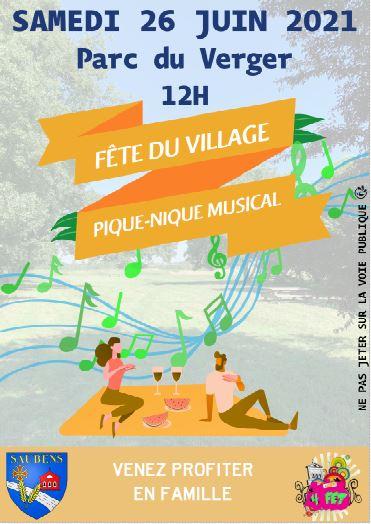 PIQUE-NIQUE MUSICAL organisé par les 4